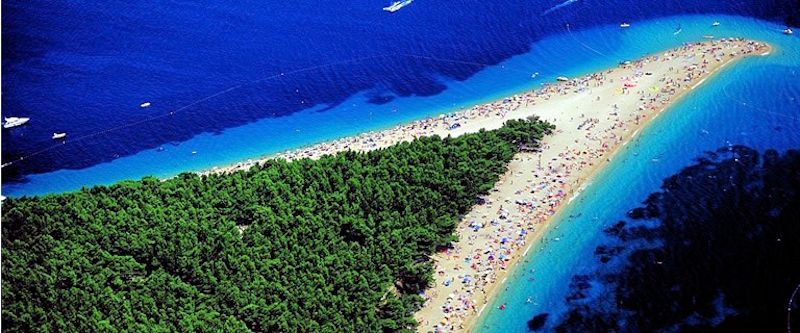 Brac: Zlanti-Rat peninsular beach