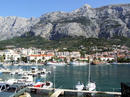 The town of Makarska, Makarska Riviera, Central Dalmatia