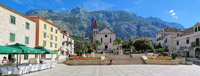 The town center of Makarska, Central Dalmatia