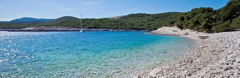 Srebrena cove on the island of Vis