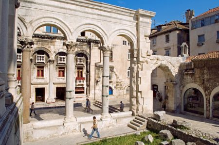 Courtyard, Diocletian's Palace, Split, Central Dalmatia