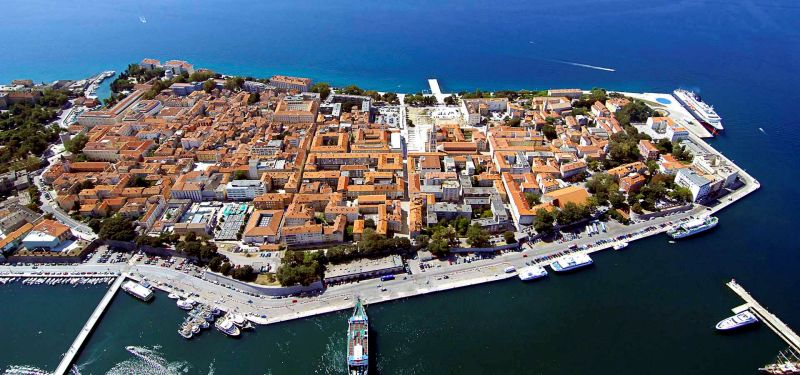 The town of Zadar, North Dalmatia