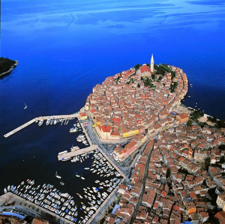 Rovinj - on the west coast of the Istrian peninsula