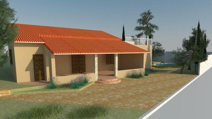 Part completed house. Island of Šolta off Split